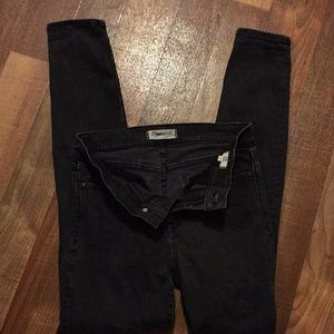 Madewell skinny faded black size 28